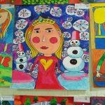 В фойе отдела ЗАГСа открылась выставка детских рисунков «Пусть всегда будет мама!»