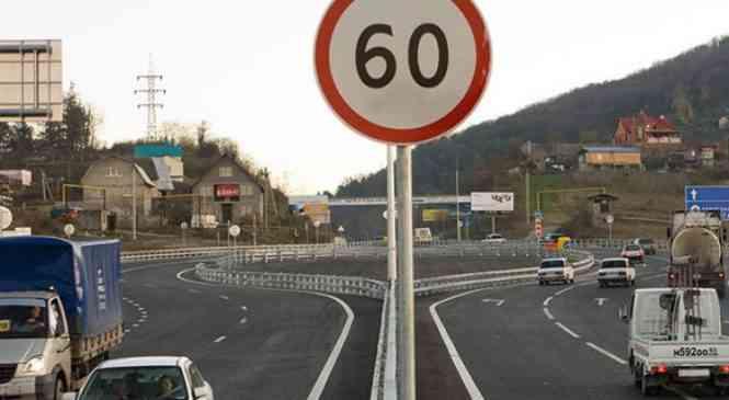 Вблизи гребного канала на Р28 скорость снижена до 60 км/ч