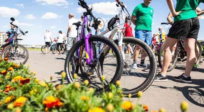 Команда Дзержинского района приняла участие в велопробеге в Мяделе