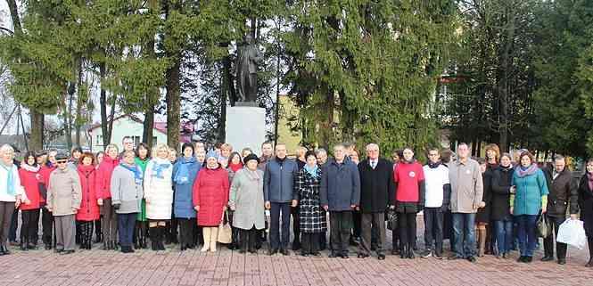 В Дзержинске прошел митинг, посвященный очередной годовщине Октябрьской революции