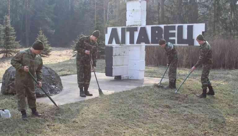Личное участие в общем деле: военные навели порядок в «Литавце»